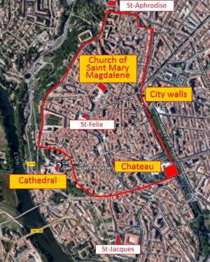 Chteau de Beziers Site of Demolished Medieval Castle in France