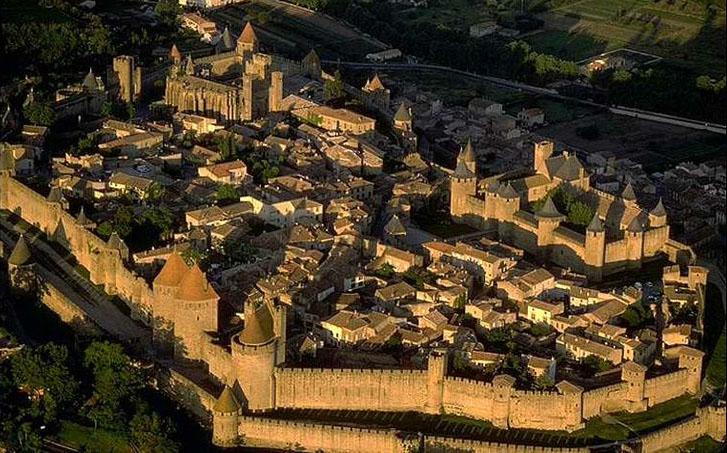 Ch 226 Teau Comtal De Carcassonne Well Preserved Medieval