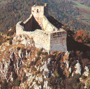 Aerial view of Montsegur