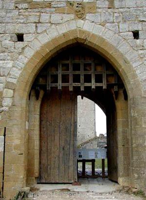 Ch 226 Teau De Puivert Semi Ruined Medieval Cathar Castle In