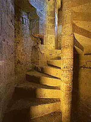 château de queribus - half ruined medieval cathar castle in france